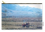 Tractor Used In Farming Along The Road To Shigatse-tibet Carry-all Pouch