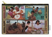 Traditional Pacific Handicrafts Postage Stamp Print Carry-all Pouch