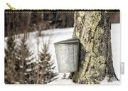 Traditional Sap Bucket On Maple Tree In Vermont Carry-all Pouch