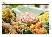 Traditional Vegetarian Curry With Rice In Bali Indonesia Carry-all Pouch