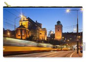 Traffic On The Solidarity Avenue In Warsaw Carry-all Pouch