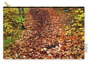 Trail In Fall Forest Carry-all Pouch