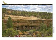 Trail View Of Spruce Tree House On Chapin Mesa In Mesa Verde National Park-colorado Carry-all Pouch