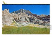 Trailhead For Saddle Pass Trail In Badlands National Park-south Dakota   Carry-all Pouch