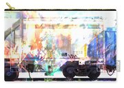 Train Abstract Blend 4 Carry-all Pouch