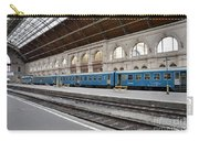 Train At Station Platform Budapest Hungary Carry-all Pouch