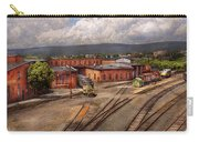 Train - Entering The Train Yard Carry-all Pouch by Mike Savad