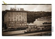 Train Passes Station Square Pittsburgh Antique Look Carry-all Pouch