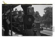 Train Ride Magic Kingdom Black And White Carry-all Pouch