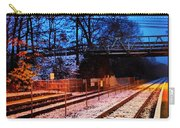 Train Station First Snow Carry-all Pouch