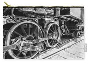 Train - Steam Engine Wheels - Black And White Carry-all Pouch