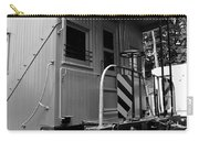 Train - The Caboose - Black And White Carry-all Pouch by Paul Ward