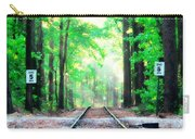 Train Tracks In Forest Carry-all Pouch