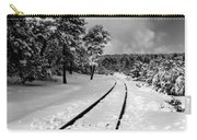Train Tracks In The Snow Carry-all Pouch