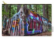 Train Wreck Art In The Forest Carry-all Pouch
