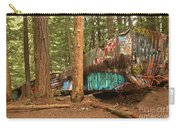 Train Wreck Canvas Among The Trees Carry-all Pouch