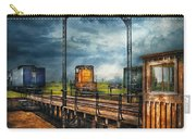 Train - Yard - On The Turntable Carry-all Pouch by Mike Savad