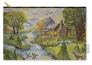 Tranquil Log Cabin Carry-all Pouch