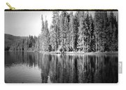 Tranquil Reflection In B And W Carry-all Pouch