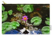 Tranquility - Lotus Flower Koi Pond By Sharon Cummings Carry-all Pouch