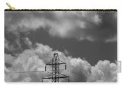 Transmission Tower In Storm Carry-all Pouch