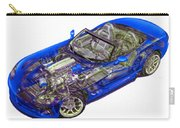 Transparent Car Concept Made In 3d Graphics 1 Carry-all Pouch