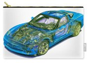 Transparent Car Concept Made In 3d Graphics 11 Carry-all Pouch