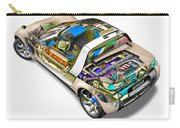 Transparent Car Concept Made In 3d Graphics 2 Carry-all Pouch