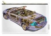 Transparent Car Concept Made In 3d Graphics 6 Carry-all Pouch