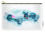 Transparent Car Concept Made In 3d Graphics 7 Carry-all Pouch