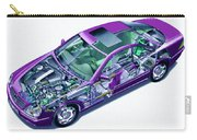 Transparent Car Concept Made In 3d Graphics 8 Carry-all Pouch