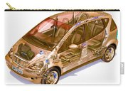 Transparent Car Concept Made In 3d Graphics 9 Carry-all Pouch