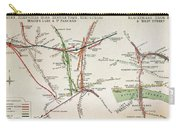 Transport Map Of London Carry-all Pouch
