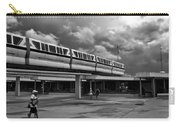 Transportation Station In Black And White Walt Disney World Carry-all Pouch