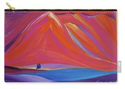 Travelers Pink Mountains Carry-all Pouch