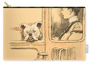 Traveling In First Class Carry-all Pouch by Cecil Charles Windsor Aldin