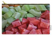 Tray Of Melon Chunks Art Prints Carry-all Pouch