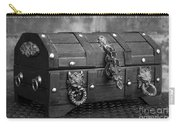 Treasure Chest In Black And White Carry-all Pouch