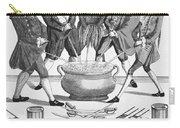 Treaty Of Paris Cartoon Carry-all Pouch