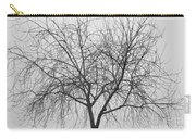 Tree Abstract In Black And White Carry-all Pouch