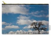 Tree And Fence On A Landscape, Santa Carry-all Pouch