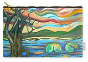 Tree And Lilies At Sunrise Carry-all Pouch