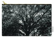 Tree Black And White Carry-all Pouch