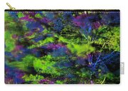 Tree Branches Lit With Abstract Colorful Projection Carry-all Pouch