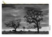 Tree Family In Black And White Carry-all Pouch