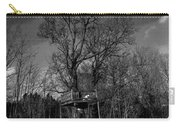 Tree House In Black And White Carry-all Pouch
