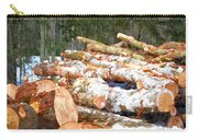 Tree Logs  Carry-all Pouch