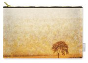 Tree On Hill At Dusk Carry-all Pouch by Pixel  Chimp