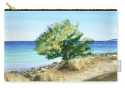 Tree On The Beach Carry-all Pouch by Veronica Minozzi