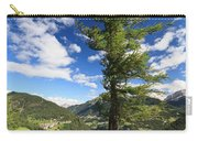 tree over Cordevole valley Carry-all Pouch